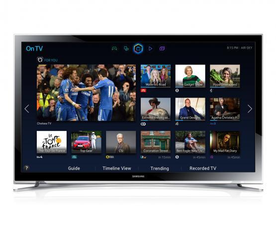 menu de un Smart TV Samsung