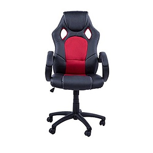 1.Homcom Negro-Rojo