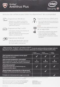 1.2 McAfee Antivirus Plus
