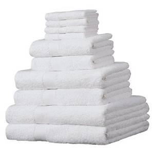 5.Linens Limited Juego de 10 toallas de ducha