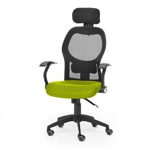 2.Silla de oficina ergonómica , color verde