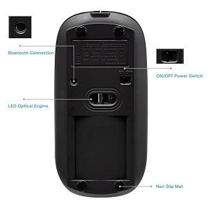 3.Tonor ratón recargable silencioso modo Bluetooth super delgado Ratón inalámbrico