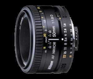 1.Nikon AF Nikkor 50mm