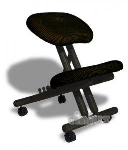 1.Silla ergonómica Cinius profesional color negro sin respaldo