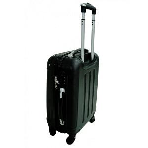 1.1 Todeco - Set de 3 maletas Trolley de color negro