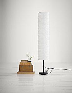 3.IKEA Holmö - Lámpara de pie con tulipa de papel