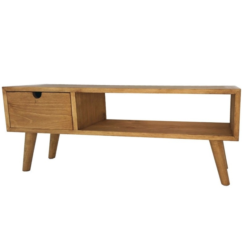 Opiniones sobre hogar 24 mueble tv pino cajon an lisis for Muebles de pino precios