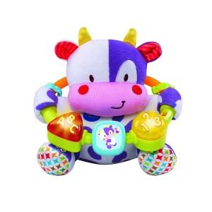 db506d608 Este peluche interactivo es una colorida vaca que captará la atención de  los bebés para mantenerlos entretenidos con 12 melodías. Por su parte